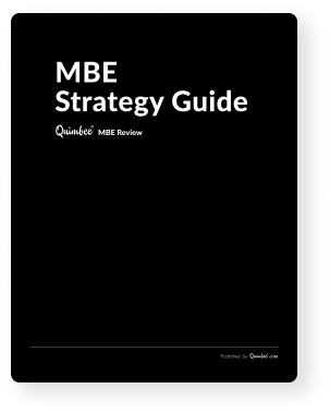MBE Strategy Guide cover